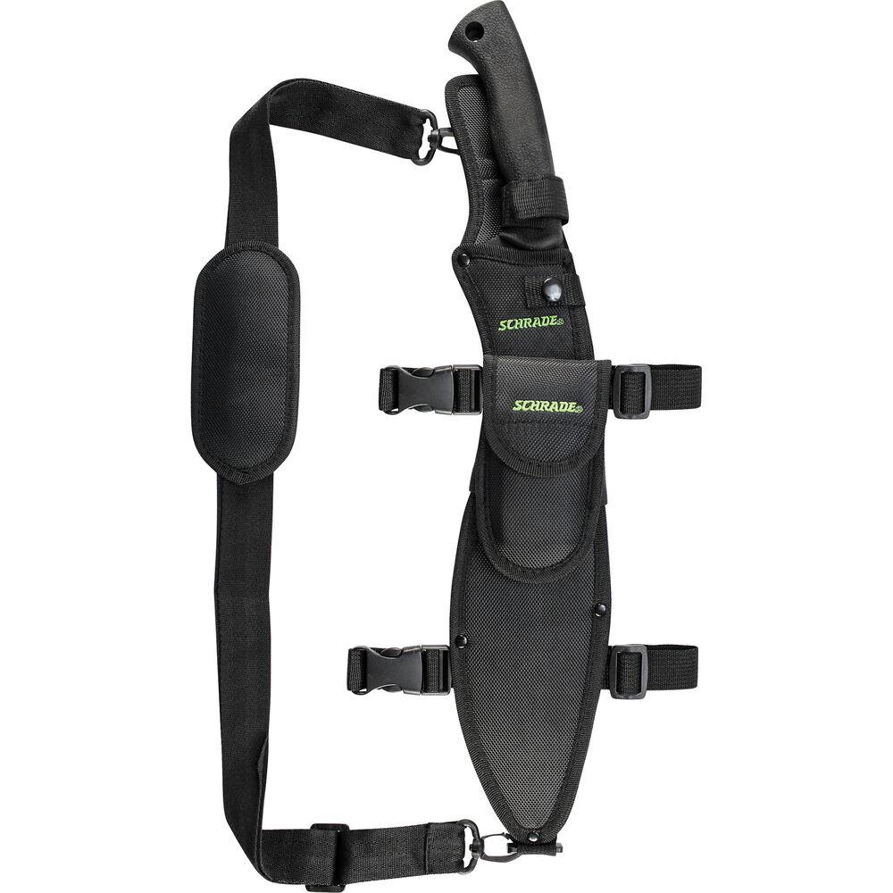 Schrade Large Full Tang Kukri Machete Fixed Blade Safe-T-Grip Handle